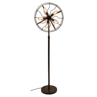 Ozzy Industrial Vintage Fan Floor Lamp