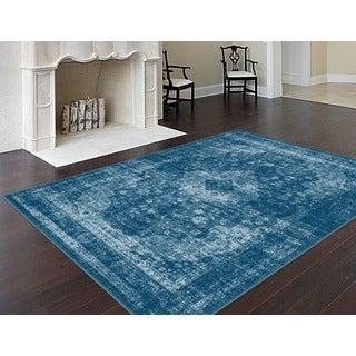 Alise Eternity Blue Area Rug (5'3 x 7'3)