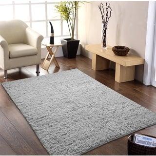 Hand-woven Flokati Wool Shag Rug (5' x 8')