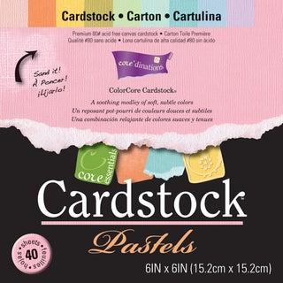 Core'dinations Core Essentials Cardstock Pad 6inX6in 40/PkgPastels