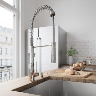 VIGO Laurelton Chrome Pull-Out Spray Kitchen Faucet