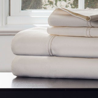 Windsor Home 1000 Thread Count Cotton Rich Sateen Sheet Set - King Ivory