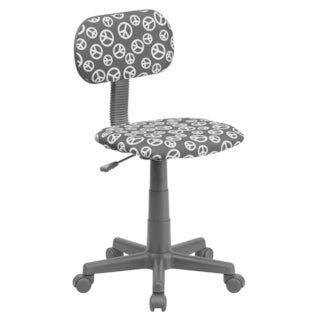 Peace Sign Print Fabric Task Chair