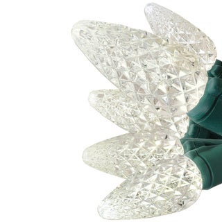 50 LED Battery Operated Clear C-5 Lights