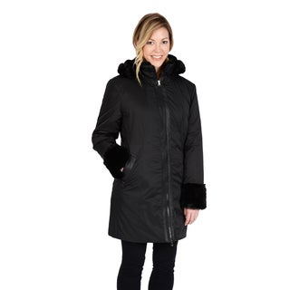 Excelled Women's Polyester Hooded Car Coat