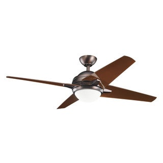 Kichler Lighting Rivetta Collection 52-inch 4-blade Oil Brushed Bronze Ceiling Fan