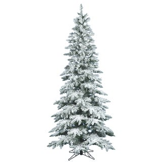 """12' x 65"""" Flocked Utica Fir Tree with 1743 Tips"""