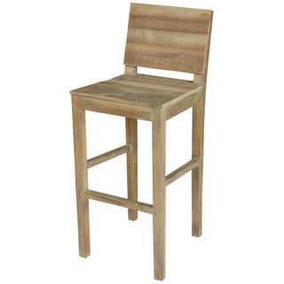 Edmonton Rustic Tan Wooden Counter Stool