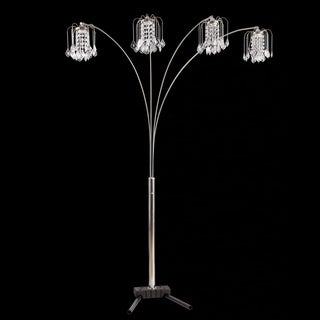 Journee Home 'Elegance' 84 inch Faux Crystal Arch Floor Lamp