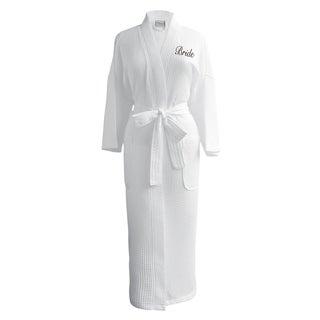Conrad Egyptian Cotton Bride Waffle Spa Robe