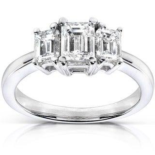 Annello 14k Gold 1ct TDW Diamond Three-stone Ring (H-I, SI1-SI2) with Bonus Item