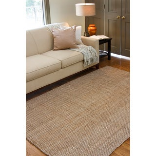 Hand-woven Natural Fiber Jute Rug (5' x 8')