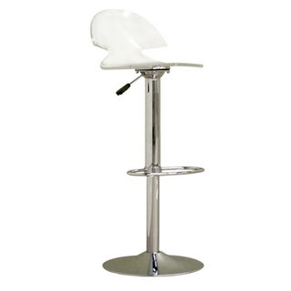 Clear Acrylic Adjustable Chromed Barstool