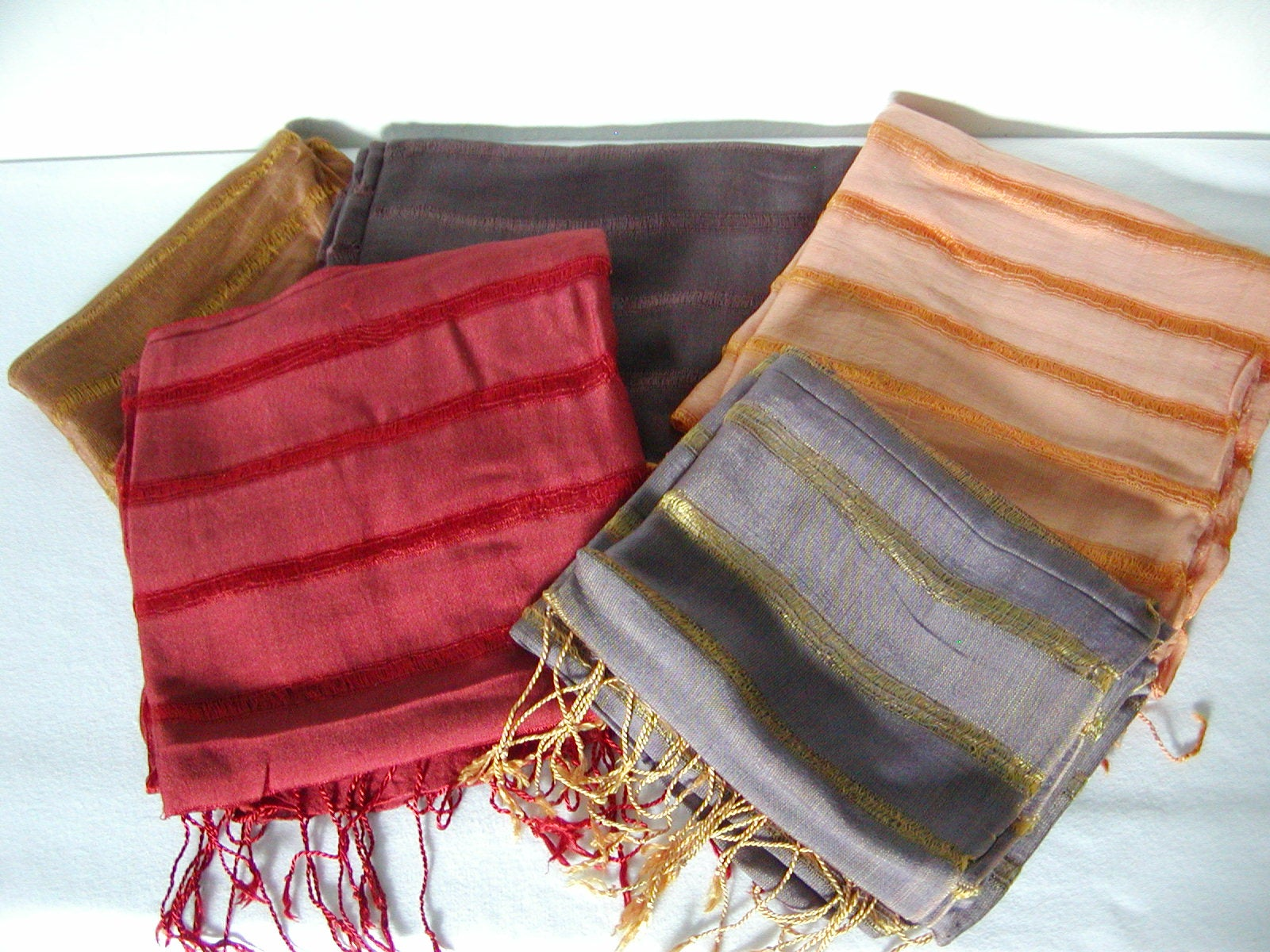 hadong striped silk scarf overstock shopping