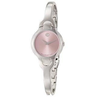 Movado Women's 0605284 Kara Pink Dial Stainless Steel Watch