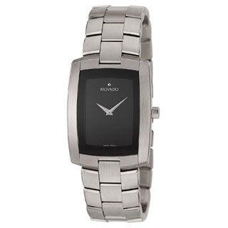 Movado Eliro Men's Black Dial Steel Watch
