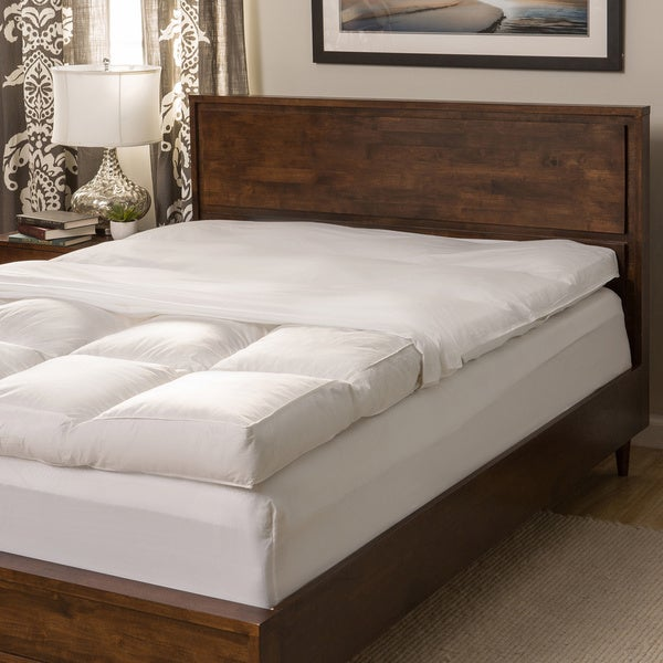 Super Snooze 5-inch 230 Thread Count Baffled Featherbed Set