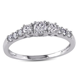 Miadora 14k White Gold 1/2ct TDW Round Diamond Engagement Ring (F-G, I1-I2)