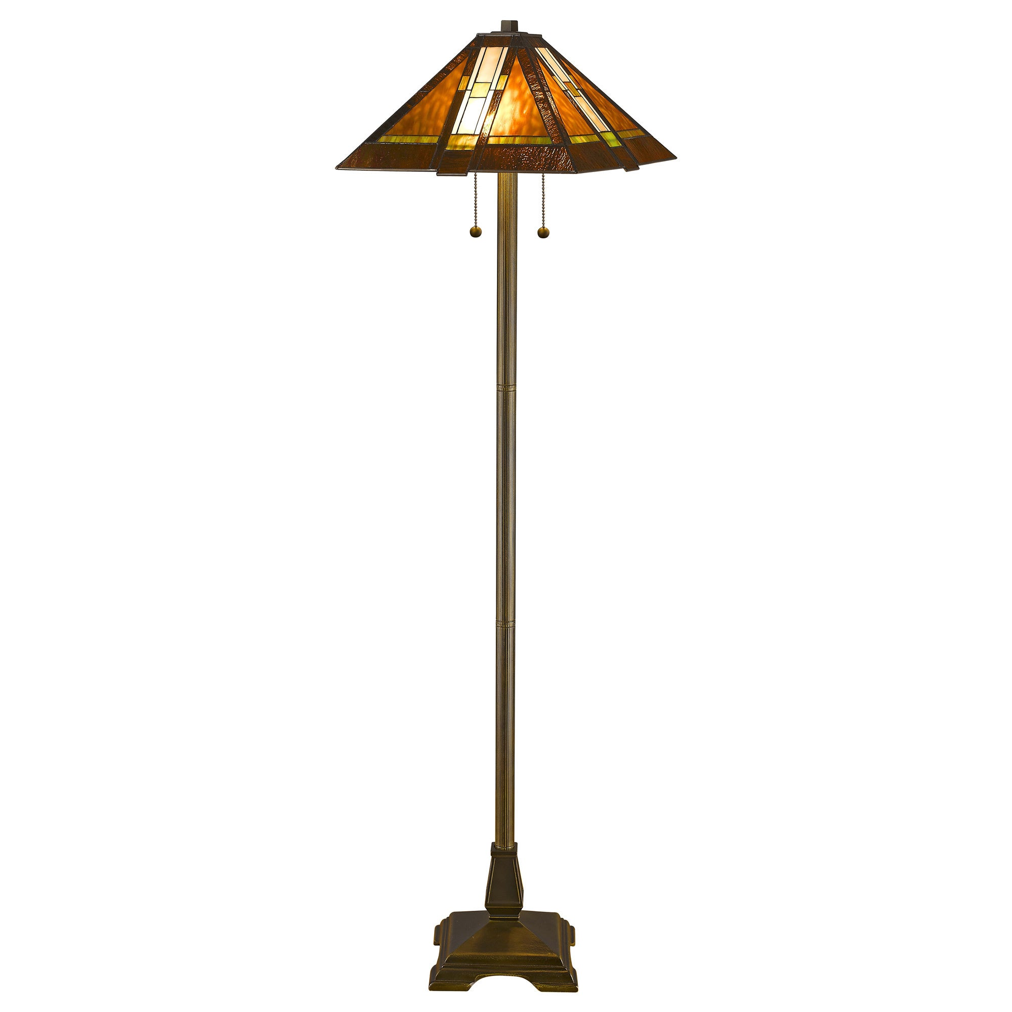 Tiffany style aztec mission floor lamp overstock for Overstock tiffany floor lamp