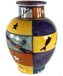 Ceramic African Design Vase (Morocco)