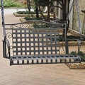 International Caravan Wrought Iron Patio Swing