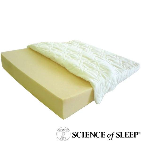 Science of Sleep Angled Specialty Foam Wedged Sleep Aid for Heartburn and Acid Reflux