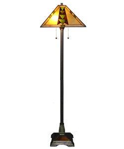 Tiffany-style Mission Floor Lamp