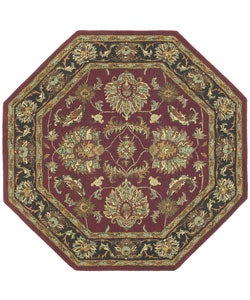 Hand-tufted Agra Wool Rug (6' octagon)