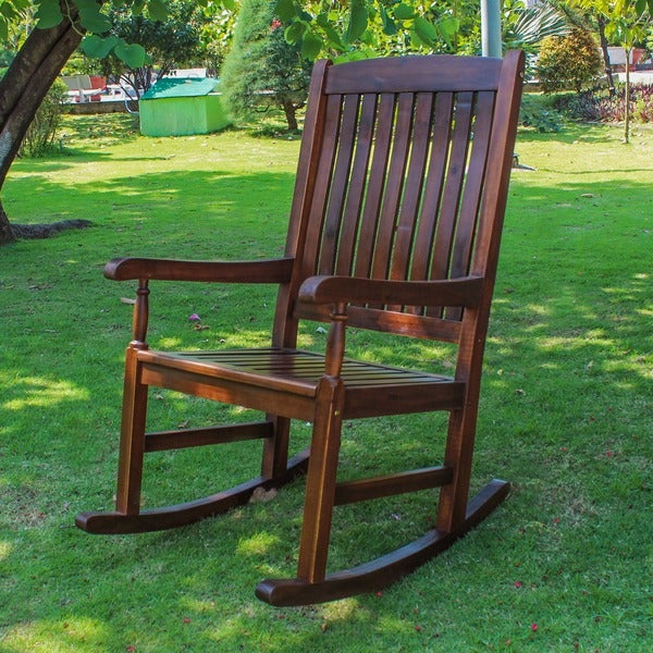 International Caravan Traditional Porch Rocking Chair Overstock Shopping