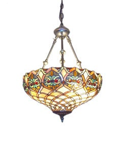 Tiffany-style Mission Hanging Pendant Light