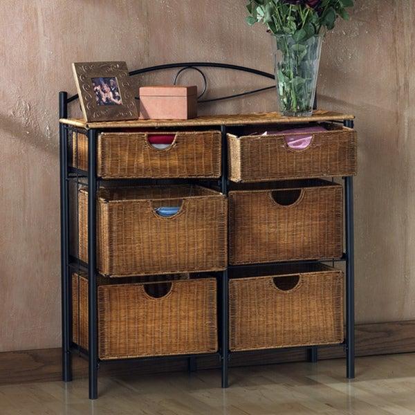 Upton Home Wicker 6-drawer Storage Chest