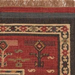 Flat-woven Tribal Wool/ Jute Rug (8' x 10')