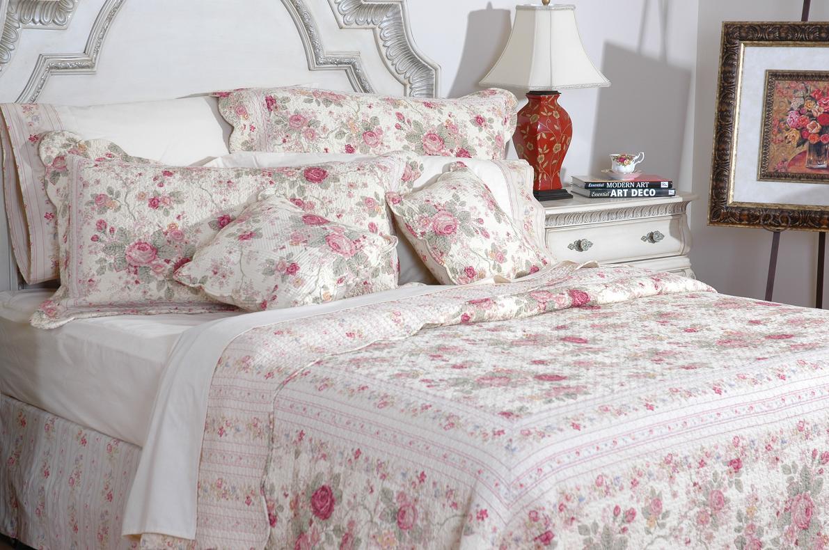 Greenland Home Fashions Antique Rose 3-piece Quilt Set