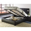 Leather King-size Lift Storage Bed