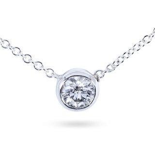 Annello 14k Gold 1/4ct Diamond Solitaire Necklace (H-I,I1-I2)