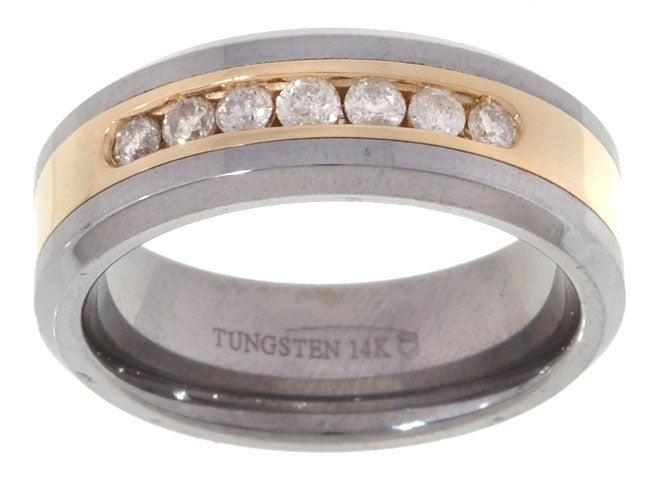 Tungsten/ 14k Gold Channel 1/2ct TDW Diamond Band (H-I, I2-I3)
