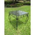 International Caravan Antique Black Square Iron Side Table
