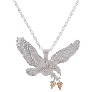 Black Hills Gold and Sterling Silver Eagle Pendant