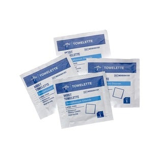 Medline Benzalkonium Chloride Towelettes (Case of 1,000)
