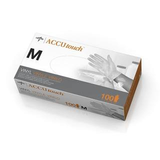 Medline Accutouch Powder-Free, Latex-Free Vinyl Exam Gloves, Medium (Case of 1,000)