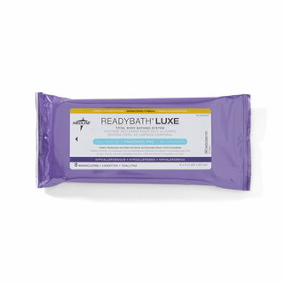 ReadyBath LUXE Total Body Cleansing Heavyweight Washcloths, Antibacterial Formula, Fragrance-Free (Case of 24)