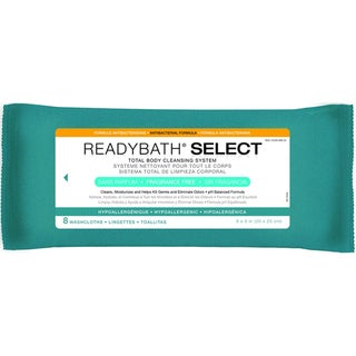 ReadyBath SELECT Total Body Cleansing Medium Weight Washcloths Antibacterial Formula Fragrance-Free
