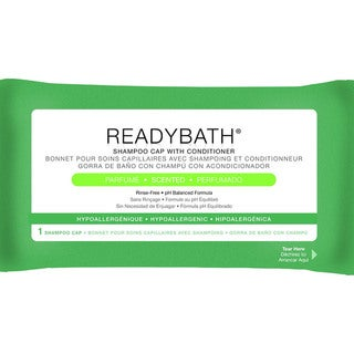 Medline ReadyBath Rinse-Free Shampoo and Conditioning Caps, Scented (Case of 30)