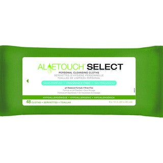Medline Aloetouch SELECT Premium Personal Cleansing Wipes, Fragrance Free (Pack of 12)