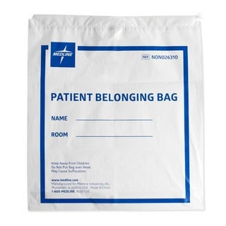 Medline Bag, Belong, Drwstrg, Wht, 18 inch x 20 inch (Case of 250)