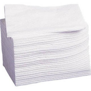 Medline Hydroknit Disposable Washcloth - White (Case of 500)