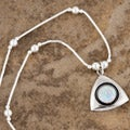 Handcrafted Sparkling White Opal Pendant (India)
