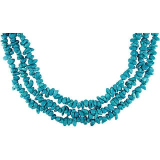 Miadora Turquoise Three-strand Sterling Silver Necklace