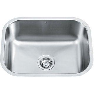 VIGO 23-inch Undermount Stainless Steel 18 Gauge Single Bowl Kitchen Sink