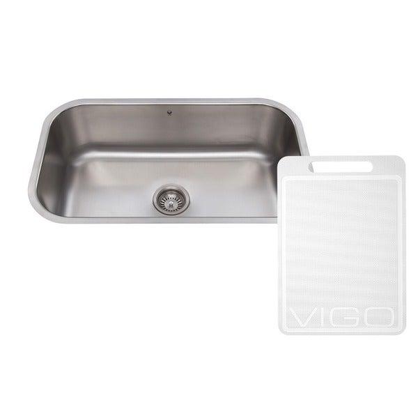 VIGO 30-inch Undermount Stainless Steel 18 Gauge Single Bowl Kitchen Sink
